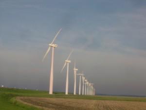Windmolens staan veelal afgelegen.